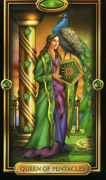 Королева пентаклей (queen of pentacles)