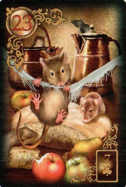 23-Крысы(Мыши)-Карты Ленорман